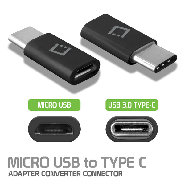 CNMICCBK - Cellet Micro USB to USB-C Adapter Converter Connector - Black