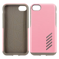 CCIPH75PK - iPhone 8/7 Dual Layer Anti-Slip Aviator Series Heavy Duty Phone Case - Pink/ Gray