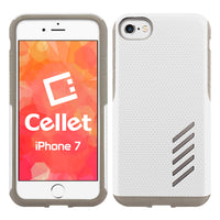 CCIPH75WT - iPhone 8/7 Dual Layer Anti-Slip Aviator Series Heavy Duty Phone Case - White/ Gray