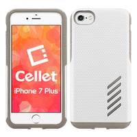 CCIPH7P5WT - iPhone 7/ 8 Plus Dual Layer Anti-Slip Aviator Series Heavy Duty Phone Case - White/ Gray