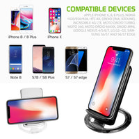 QI300BK - Wireless Charging Pad, Cellet Adjustable Dual Coil Wireless Charging Stand for all Wireless (Qi) Enabled Devices - Black