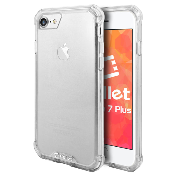 CCIPH7P6CL - iPhone 7/ 8 Plus Heavy Duty HD Clear Ultra Slim Hybrid Phone Case - Clear