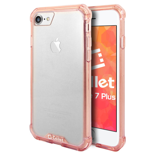 CCIPH7P6PK - iPhone 7/ 8 Plus Heavy Duty HD Clear Ultra Slim Hybrid Phone Case - Clear/ Pink