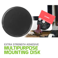DISK2 - Extra Strength Adhesive Multipurpose 3.25in Mounting Disk for GPS, Car Phone Holders and More