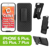 HLIPH7P - iPhone 8Plus, 7Plus, 6S Plus, & 6Plus Case, Cellet Shell Holster Kickstand Case with Spring Belt Clip for Apple iPhone 8Plus, 7Plus, 6S Plus, & 6Plus