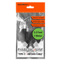 DCA33BK - USB-A to USB-C Cable, CyonGear Tangle-Free Standard 3.2ft (1m) USB-A to USB-C Charging Sync Cable for Google Pixel XL, LG G5, Nexus 5x/6P, LG V20, Motorola Moto Z/Z Force, HTC 10 and more