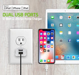 TCAPP824HWT - UL Certified Home Charger for Apple Devices, 12 Watt (2.4Amp) Home Charger with Dual Ports and 3.3 ft. Apple MFI Certified Lightning Cable compatible to iPhone XS Max, XS, XR, X, 8/8 Plus, iPad, iPad Mini 4/3/2 and more - White