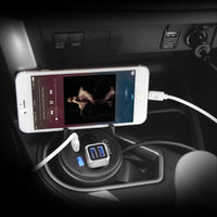 PUSBCUP - Cellet Universal Cigarette Lighter Adapter Car Cup Charger, 2 USB Ports + 2 Socket Cigarette Lighter + Phone Holder for iPhone, iPad, iPod, Samsung, HTC, Bluetooth speaker, MP3