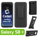 HLSAMS8P - Samsung Galaxy S8 Plus Combo Holster, Holster Shell + Holster + Kickstand Combo Case for Cellet Shell