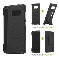 HLSAMS8 - Samsung Galaxy S8 Combo Holster, Holster Shell + Holster + Kickstand Combo Case for Cellet Shell