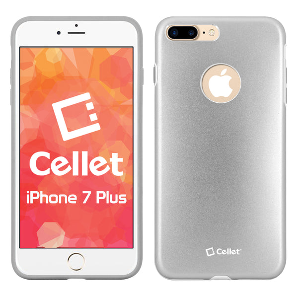 CCIPH7PSL - Apple iPhone 7/ 8 Plus Matte Metallic Case (Built-in metal plate, Works with Magnetic phone holder) -Silver