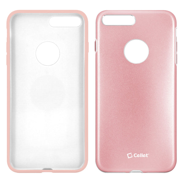 CCIPH7PRG - Apple iPhone 7/ 8 Plus Matte Metallic Case (Built-in metal plate, Works with Magnetic phone holder) - Rose Gold