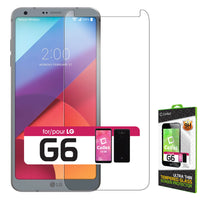 SGLGG6 - LG G6 Tempered Glass Screen Protector, Cellet 0.3mm Premium Tempered Glass Screen Protector for LG G6 (9H Hardness)