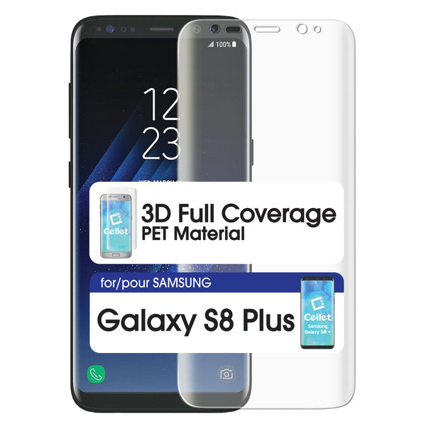 STSAMS8P - Cellet Full Coverage Flexible PET Film Screen Protector for Samsung Galaxy S8 Plus