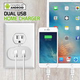 TANN230WT - Cellet Dual USB Home Charger, 2.1 Amp / 10 Watt Wall Charger for Apple iPhone X, 8, 8 Plus, iPad Pro, iPad Mini 4, Samsung Galaxy Note 8, Galaxy S8, S8 Plus, etc. - Cable Sold Separately - White