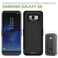 BSAMS8BK - Cellet 5500mAh Rechargeable External Battery Case for Samsung Galaxy S8 - Black