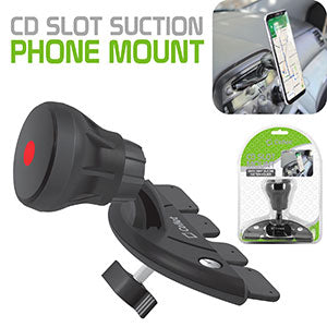 PHCD23CN - CD Slot Suction Phone Mount for Apple iPhone X, 8, 8 Plus, Samsung Galaxy Note 8, Galaxy 8, S8 Plus and More - Extra Strength Suction Cup with Quick-Snap Technology – by Cellet