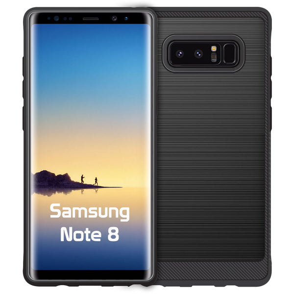 CCSAMN8BK - Samsung Note8 Sleek Rubberized TPU Protective Phone Case - Black