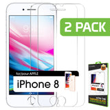 SGIPH82 - Cellet Premium Tempered Glass Screen Protector for Apple iPhone 8 – 2 Pack (0.3mm)