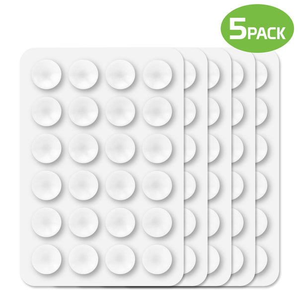 SCUPWT5 - 5 Pack Multipurpose Mini Suction Cup Mat with Strong 3M Adhesive - by Cellet - White