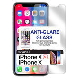 SAIPHX -Anti Glare Glass Screen Protector, Tempered Glass 9H - iPhone X