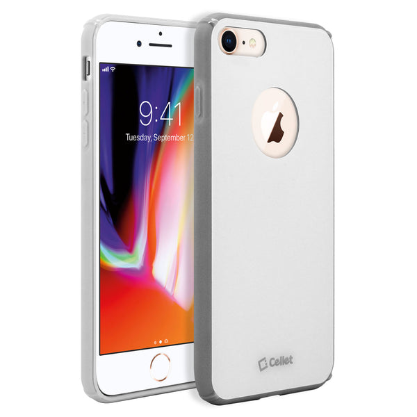 CCIPH781WT - iPhone 8/7 Durable Slim Hard Case TPU and durable PC Plastic that Provides All-Around Protection - White