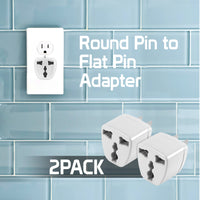 CNFPIN2 - Cellet Power Adapter -  Round Pin to Flat Pin (2PACK)