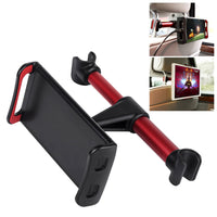 "PH350RD - Universal Back Seat Headrest Tablet/Phone Mount Holder with 360 Degree Rotation for Apple iPad/Pro/Mini, iPhone X/8/8 Plus, Galaxy Tab S3, Note 8, Surface Pro 4, etc. (fits up to 8"") by Cellet - Red"