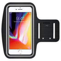 NEOIPH8PBK - iPhone 8 Plus, 7 Plus, 6S Plus, Touch Supported (Fingerprint Access is Not Supported) Exercise Armband with Key Holder and Adjustable Velcro Band for Apple iPhone 8 Plus, 7 Plus, 6S Plus - Black