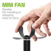 FANUSBA - Portable USB Fan with Flexible Neck for Laptops, Notebooks, Power Banks and More USB A Enabled Devices - Black