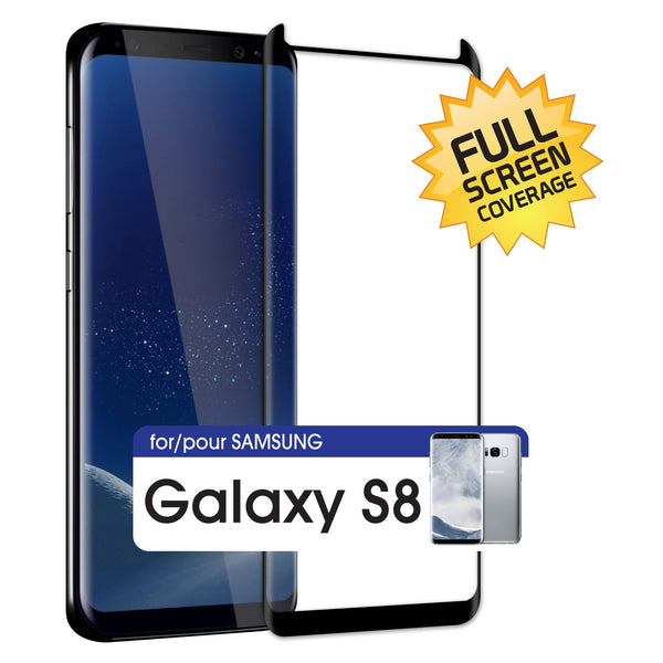 SGSAMS8FG - Samsung Galaxy S8 Adhesive Screen Protector, Premium Adhesive Full Coverage Tempered Glass Screen Protector for Samsung Galaxy S8 by Cellet