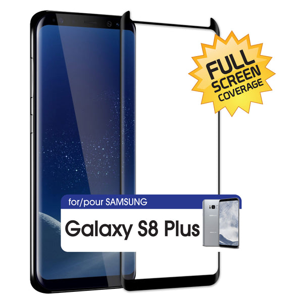 SGSAMS8PFG - Samsung Galaxy S8 Plus Adhesive Screen Protector, Premium Adhesive Full Coverage Tempered Glass Screen Protector for Samsung Galaxy S8 Plus by Cellet