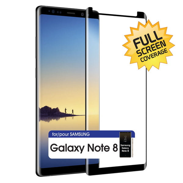SGSAMN8FG -Samsung Galaxy Note 8 Adhesive Screen Protector, Premium Adhesive Full Coverage Tempered Glass Screen Protector for Samsung Galaxy Note 8 by Cellet