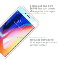 SGIPH8PBL - iPhone 8 Plus Eye Protection Screen Protector, Anti-Blue Light (HEV) Premium Tempered Glass Screen Protector for Apple iPhone 8 Plus by Cellet