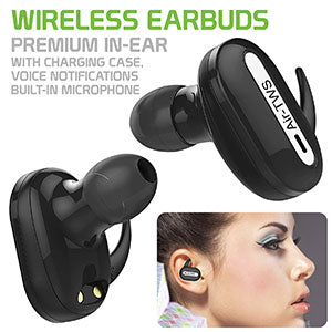 EBMC12 - WIRELESS EARBUDS WITH CHARGING BOX