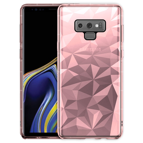 CCSAMN9PGPK - Samsung Galaxy Note 9 Ultra Slim Diamond Pattern Protective Case Cover - Pink