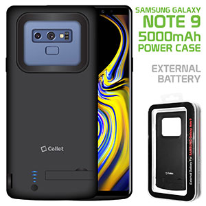 BSAMN9BK - Samsung Galaxy Note 9, 5000mAh Rechargeable External Power Case for Samsung Galaxy Note 9 – Black – by Cellet