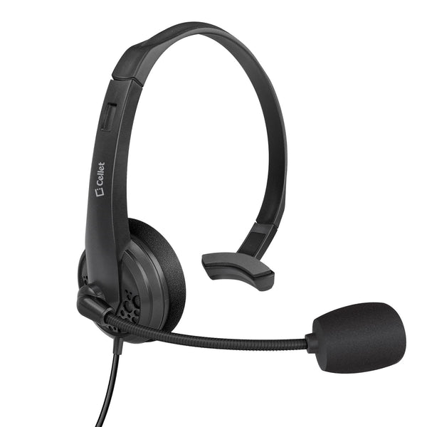 EP35C - Universal 3.5mm Headset, Durable Hands-Free 3.5mm Headset with Flexible Boom Mic by Cellet