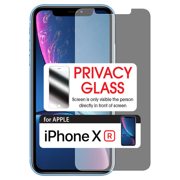 SYIPHXR -Privacy Screen Protector Tempered Glass 9H - iPhone XR