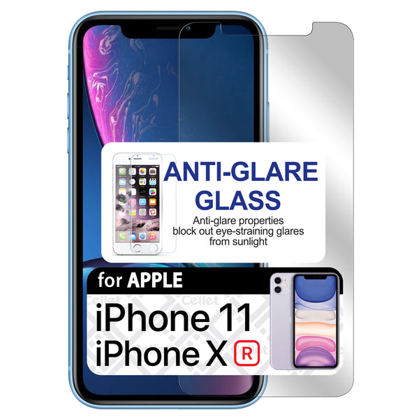 SAIPHXR -Anti Glare Glass Screen Protector, Tempered Glass 9H - iPhone XR