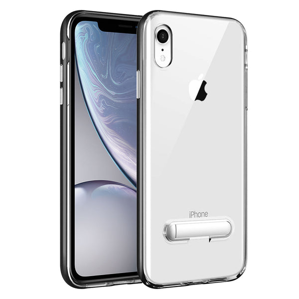 CCIPHXR68BK-  Slim Light Weight Clear Protecting Case With Built In Media Kickstand - iPhone XR