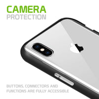 CCIPHXSM68BK- Slim Light Weight Clear Protecting Case With Built In Media Kickstand - iPhone XS Max