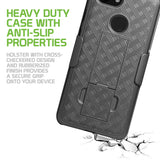 HLGOOPX3- Belt Clip Holster & Shell Case with Kickstand Heavy Duty Protection - Google Pixel 3