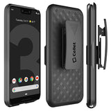 HLGOOPXL3- Belt Clip Holster & Shell Case with Kickstand Heavy Duty Protection - Google Pixel 3 XL