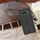 HLSAMS10P - Belt Clip Holster & Shell Case with Kickstand Heavy Duty Protection - Galaxy S10 Plus