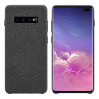 CCSAMS10PBK - Samsung Galaxy S10 Plus Case, Durable Slim Fabric Case for Samsung Galaxy S10 Plus - by Cellet - Black