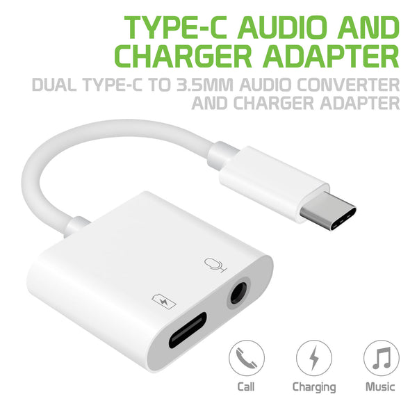 DCAPOWER - 3.5mm Aux Audio Adapter Type C USB Enhanced Quality Sound