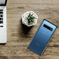 CCSAMS10ABK - Slim Transparent Case Cover with TPU Frame - Galaxy S10