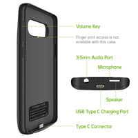 BSAMS10PBK - Cellet Samsung Galaxy S10 Plus Portable 6000 mAh Heavy Duty Rechargeable External Power Case, Extended Battery Charging Case Compatible to Samsung Galaxy S10 Plus