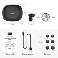 EB500BK - Cellet Wireless Earbuds, Premium V5.0 In-Ear Wireless Earbuds with Charging case, Voice Notifications and Built-in Microphone Compatible to Smartphones, iPads, Tablets and other Wireless Enabled Devices - Black